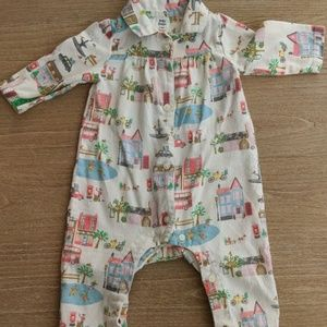 Mini Boden soft flannel onsie